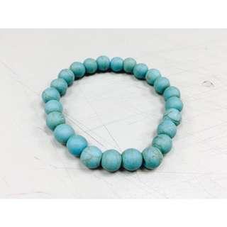 藍綠色串珠手環