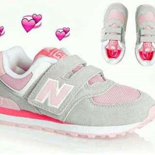 NB574 大童鞋  粉灰配色(可議)