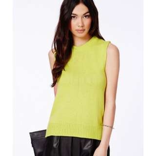 Missguided Lime Knit Top