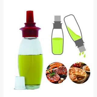 IN STOCK : Oil Bottle With Silicon Brush