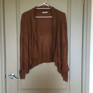 Forcast Brown Knitted Cardigan | XS