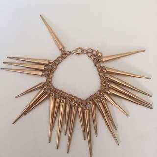 Rose Gold Spike Bracelet
