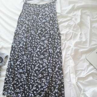 Black & White Maxi Skirt