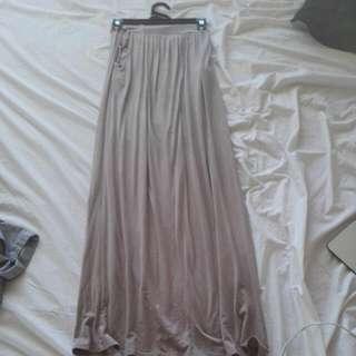 Tan Boho Maxi Skirt