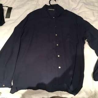 Button Up Navy Shirt