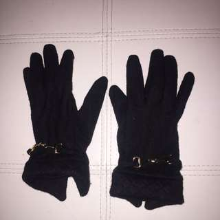 Gloves With Gold Clasp