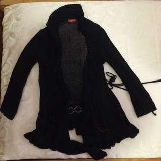 Crotchet Black Cardigan