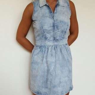 Short Denim Dress Size 8