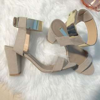 NEW Billini Nude Block Heels