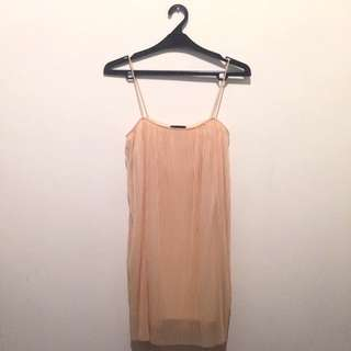 TOPSHOP Pleated Chiffon Dress