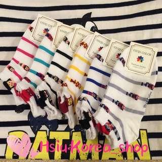 韓國英雄系配條船型襪