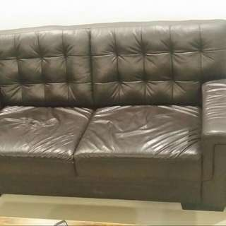 Reduced Price - 3+2 Half Leather Sofa