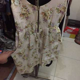 Floral Dress (brand: Mint) size S