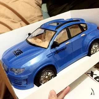 寶藍色玩具慣性車 New X6 Racing