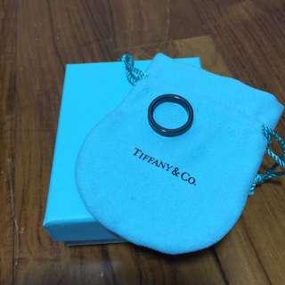 Tiffany & Co Enamel Black Ring