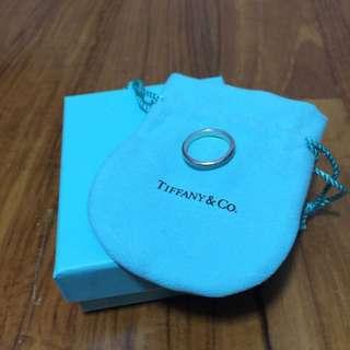 Tiffany & Co Enamel Silver Ring with Tiffany Blue Band