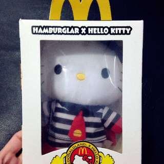 麥當勞限量漢堡神偷Hello kitty娃娃