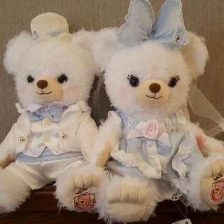 婚禮大學熊 情人節 超美白紗