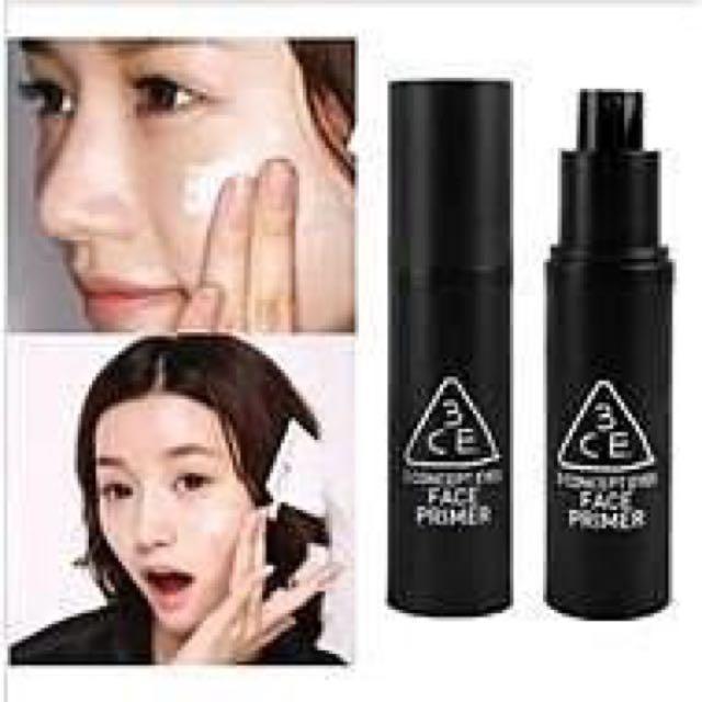 [全新]韓國3CE 妝前乳 飾底乳 提亮 立體 易上妝 提亮保濕 微量珠光 30ml 另有 粉底液 BB霜 防曬乳