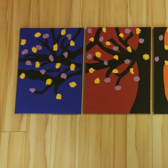 4 Piece Homemade Art