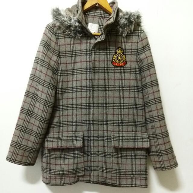 格紋質感厚外套