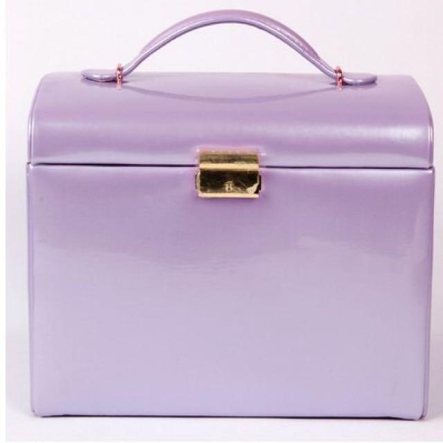 珠光紫 大容量飾品盒 珠寶盒