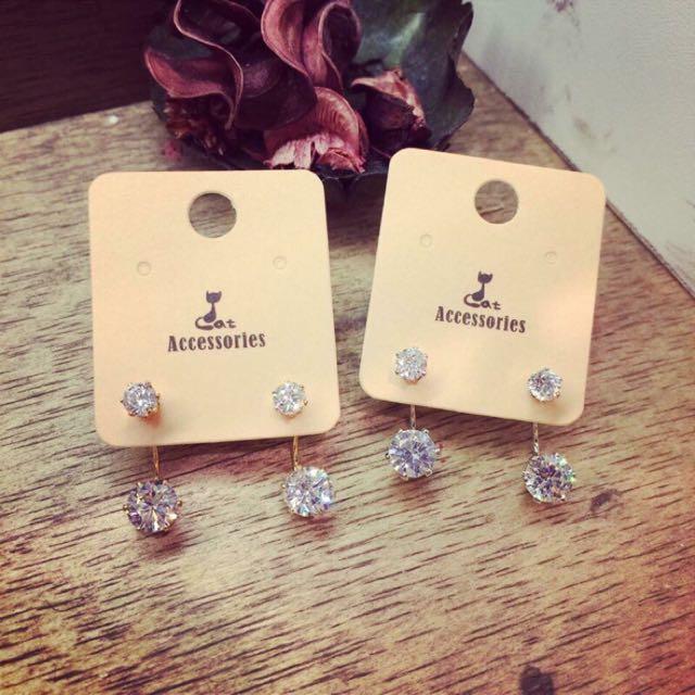韓國飾品💗 全新✨ 鋯石耳環