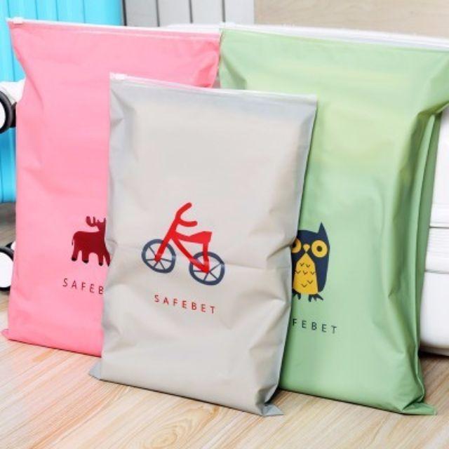 【現貨】韓國多功能加厚防水卡通旅行收納袋 夾鏈袋 資料袋 收納包M009