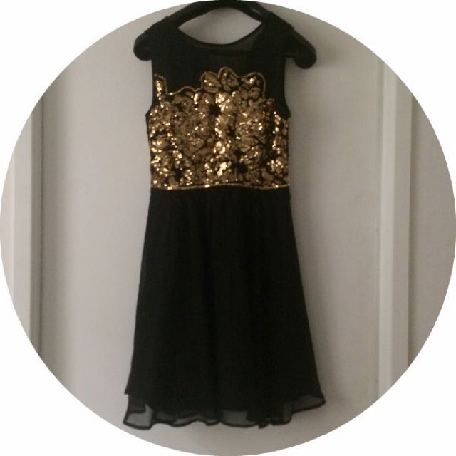 Black Sequins Dress From Miss Shop
