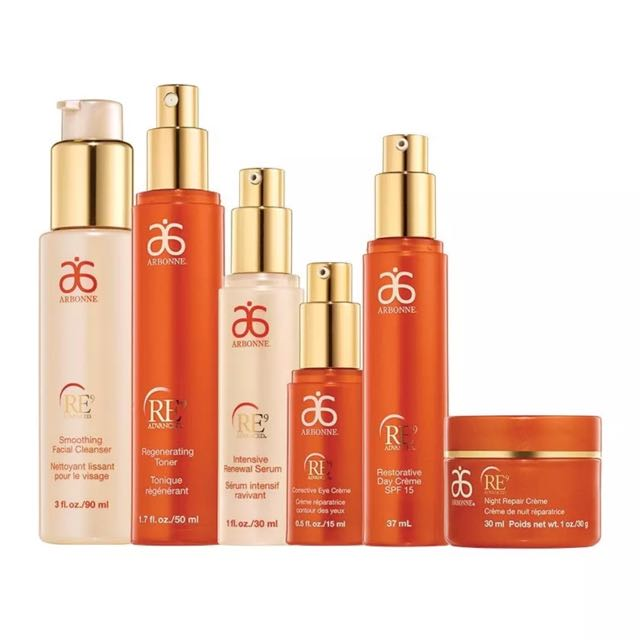 Brand New Arbonne RE9 Advanced Skincare Set Anti-aging Extra Moisture Rrp $464