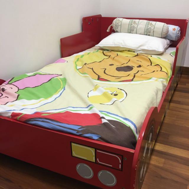 Children S Fire Engine Bed Frame 70 And Mattress 30 Furniture