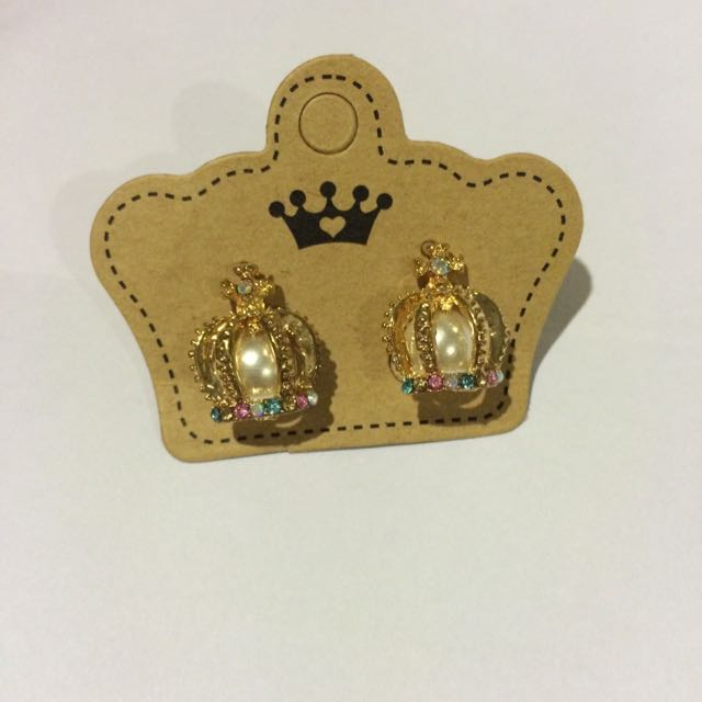 crown&pearl earrings