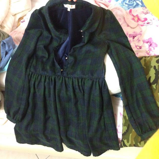 [FREE SHIPPING] Green Long Sleeve Dress.