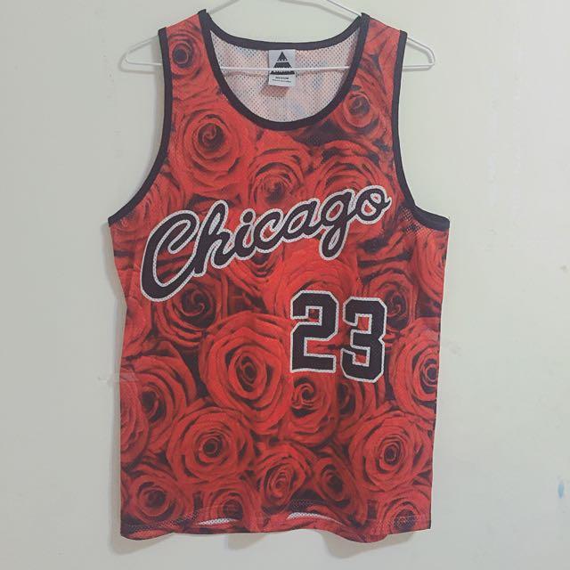 正版Jordan 23 Chicago 紅玫瑰球衣(二手現貨,僅試穿)