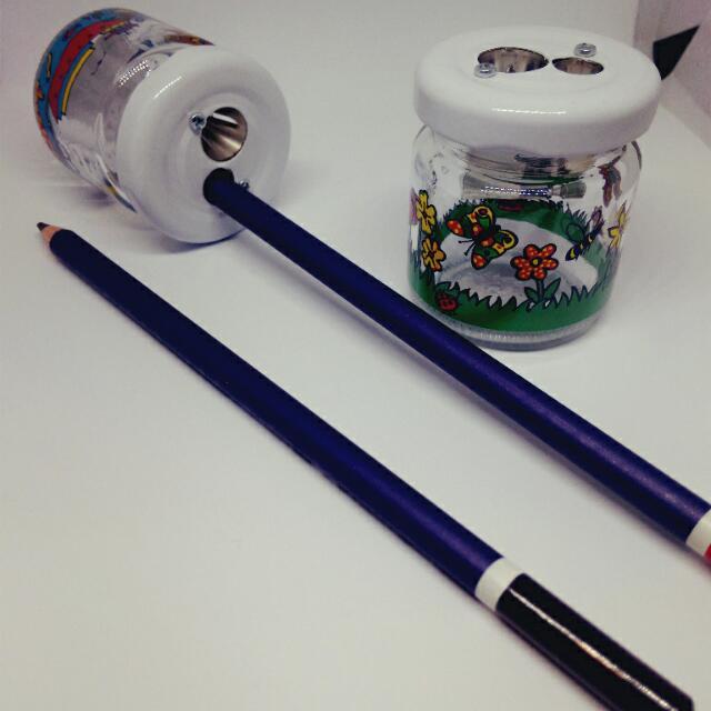 德國M+R 雙孔削筆器(珍藏玻璃瓶)