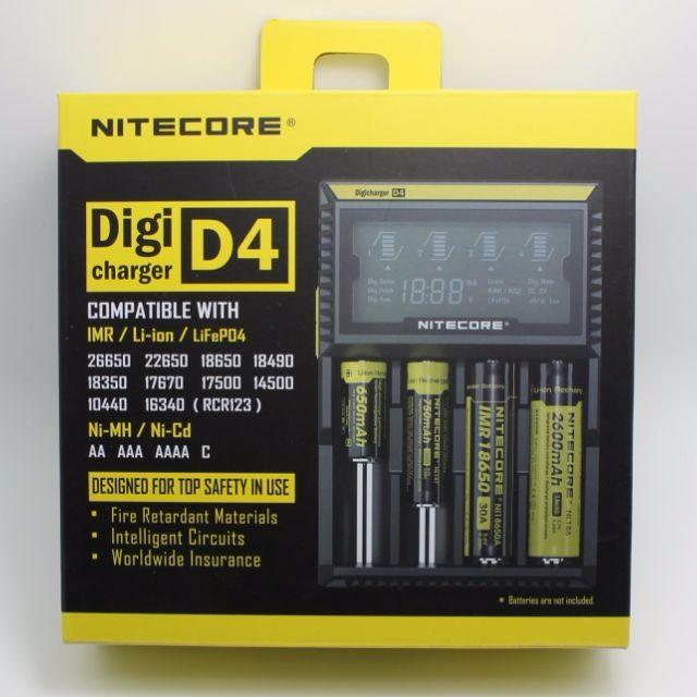 NITECORE D4(智能數顯充電器)標配是充電器1個,電源線1條,(不包電池)