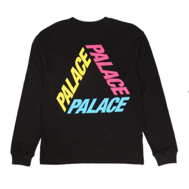 ffd71960104c PALACE P3 L S TEE BLACK   PRICE REDUCED