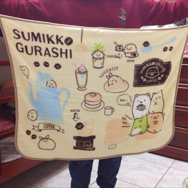 日本San-x 角落生物 可綁腰 懶人毯 毛毯 冷氣毯