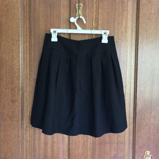 Size 10 Black Sportsgirl Skater Skirt