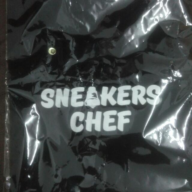 sneaker chef 圓領黑T