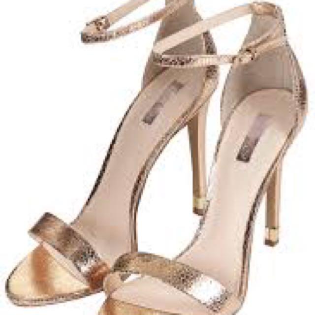 Top Shop Ruby Metallic High Sandals
