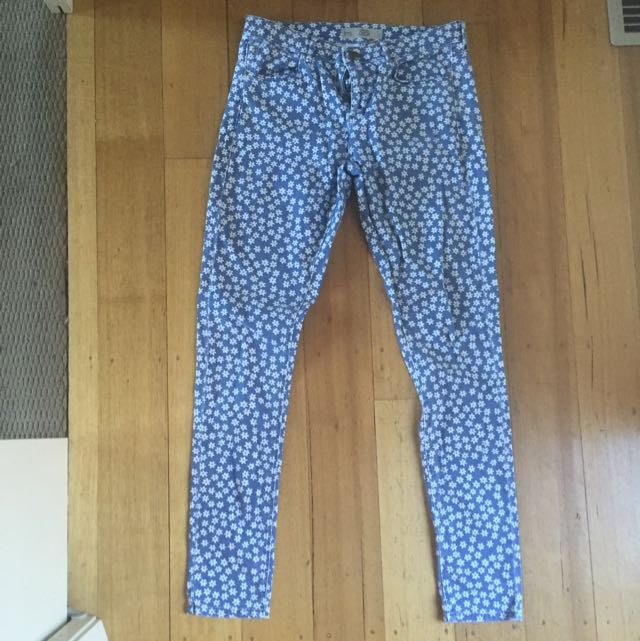 Topshop patterned jeans