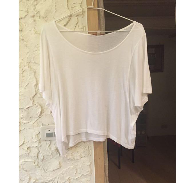 ZARA 夏季白色罩衫