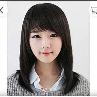 Mid length Wig With Fringe