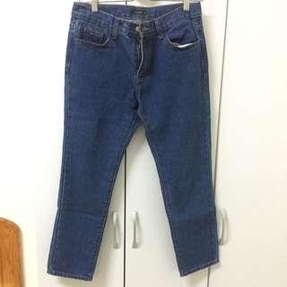 Pazzo直筒寬版9分褲