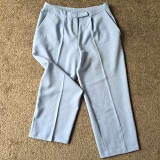 ASOS Wide Leg Crop Trousers Size 8