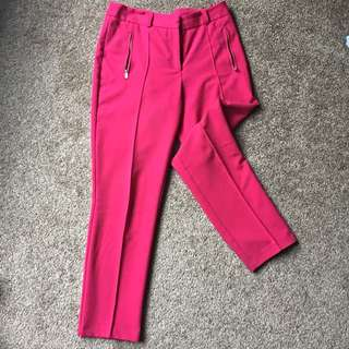 ASOS Straighht Leg Crop Trousers Size 6