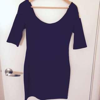 Ladkah Size 10 Mini Black Dress