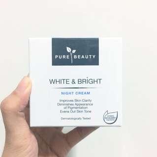 PURE BEAUTY White & Bright Night Cream
