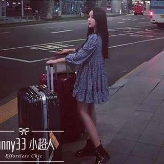 🎁韓版可愛寬鬆大尺碼印花洋裝🎁